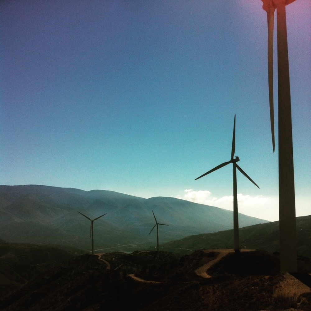 The windmills in the Alpujarra.