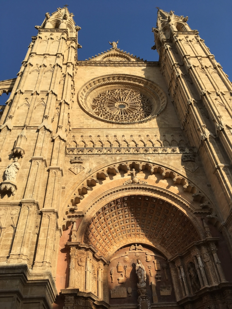 This Cathedral in Palma is so big I couldn't even take a picture of the whole thing. I would recommend leaving the city center along the coast to be able to see it all.