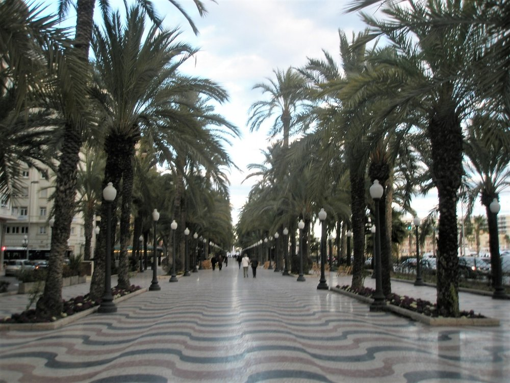 The Explanada of Alicante is the most emblematic sites of the city.