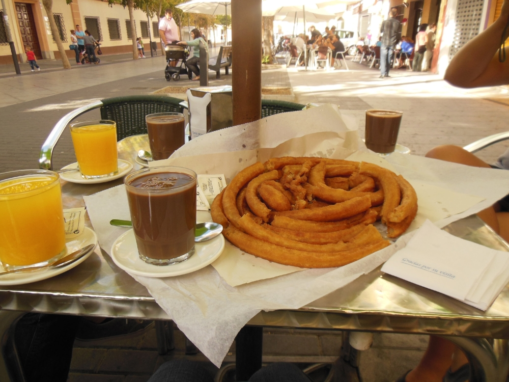 Churros con chocolate  may end up being the end-cap of your 'night' if you choose to go out Spanish-style.