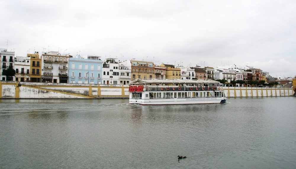 A view of Triana from across the river