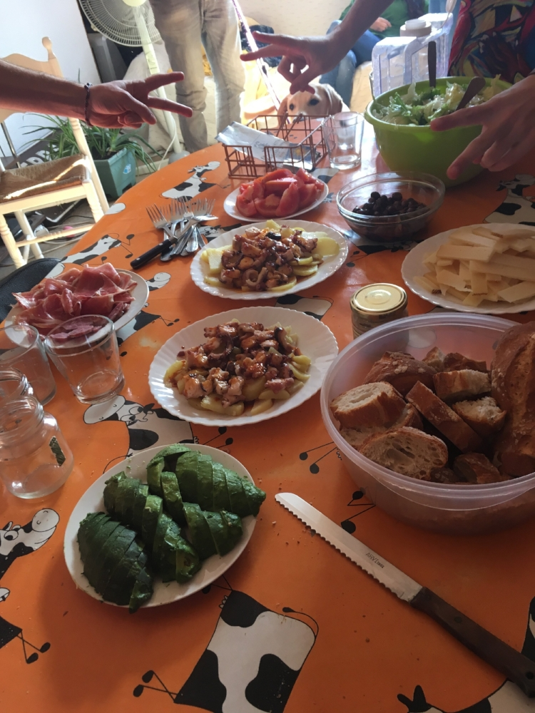 Lunch with Spanish friends tends to start late and go on for ages... My interpretation of these customs impact my acceptance of them.