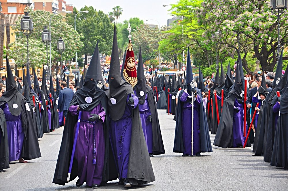 Don't worry, their outfits have religious, not racist, significance!