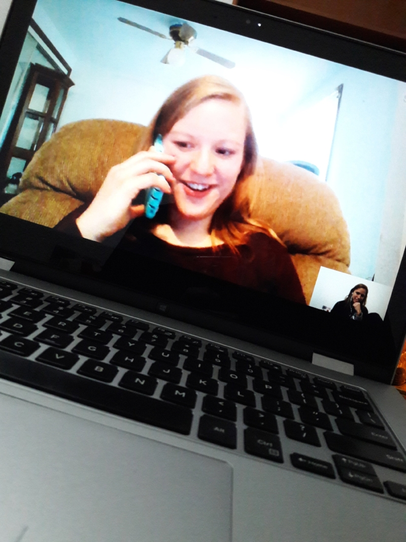 For me, intense Skype catch-ups are better than keeping in touch on a daily basis.