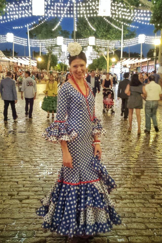 Caroline at her first Feria in 2014
