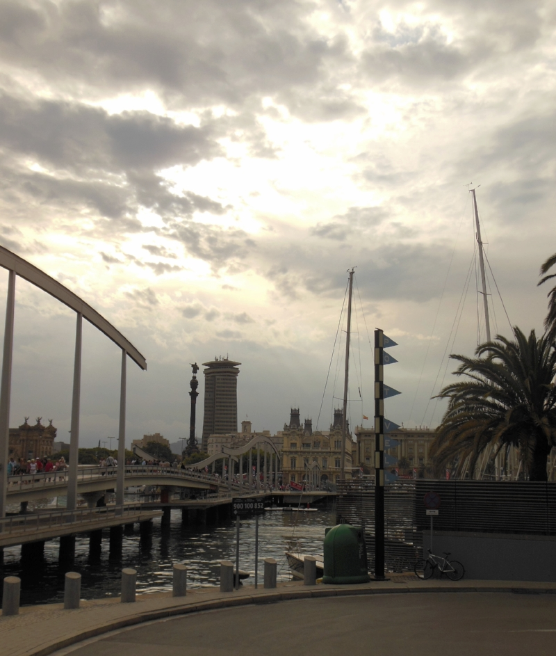 The Port of Barcelona is a lovely place to hang out year-round.