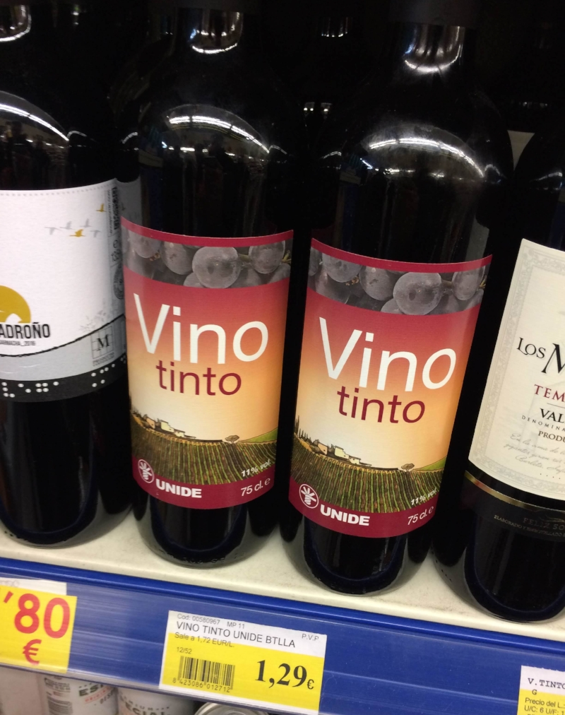 One of the beautiful things about wine country is all the good, cheap wine!