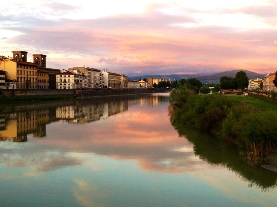 View of the Arno River from Ponte Vecchio
