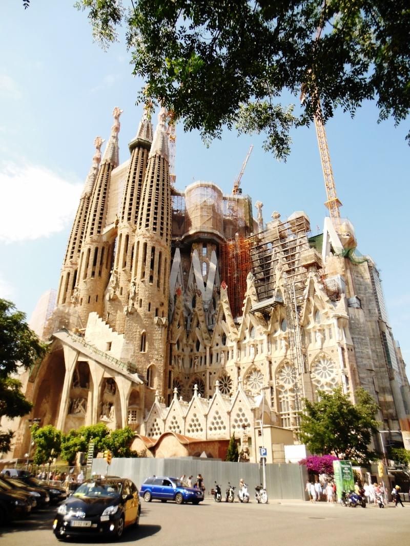 Sagrada Familia outside tree