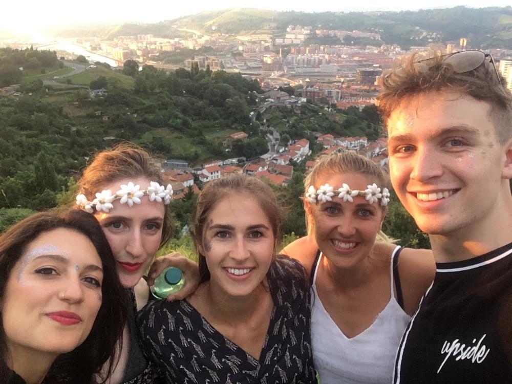 Festival fun in Bilbao.