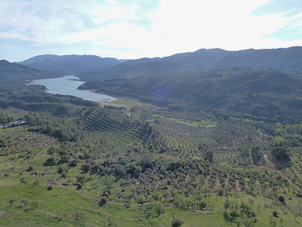 The long-awaited view from the village Hornos de Segura.