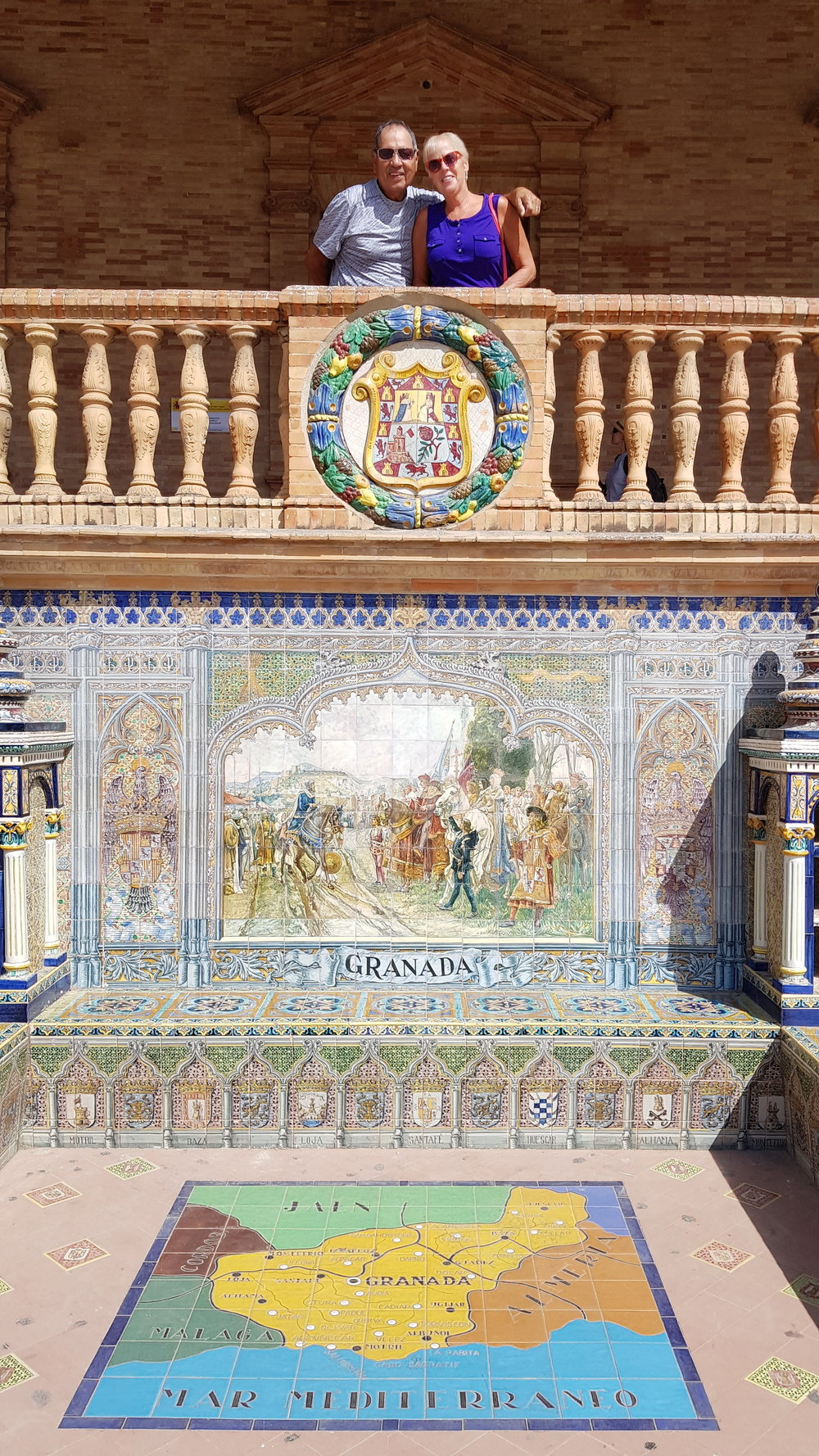 The Granada tiles at the  Plaza de España .
