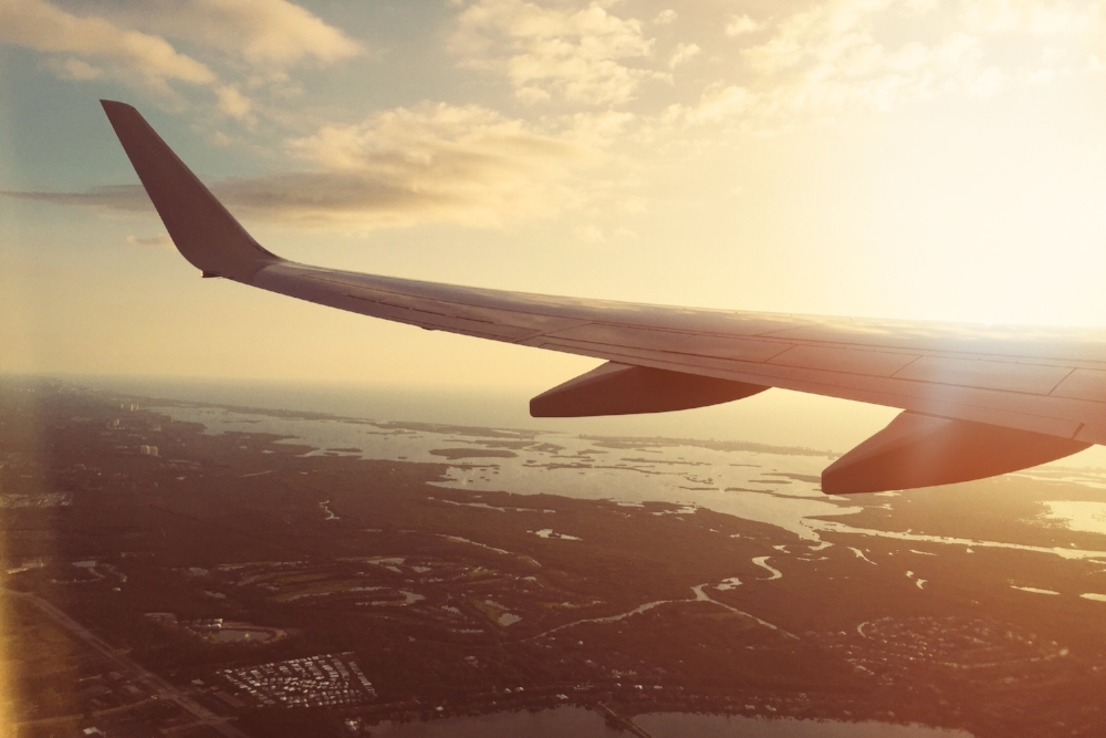 View from an airplane. Photo by Josh Sorenson on Pexels