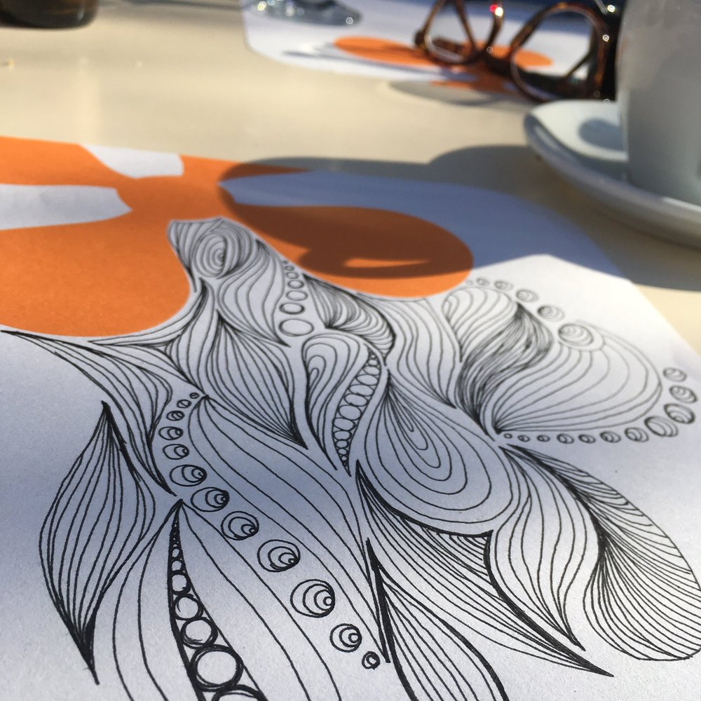 It may seem silly, but making time to have coffees and doodle makes me happy.