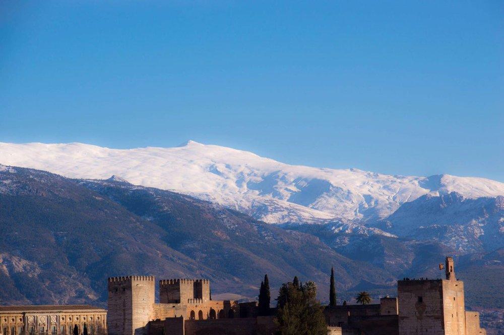 The Alhambra with the Sierra Nevada in the background. Granada. Photo by Edoardo Massai