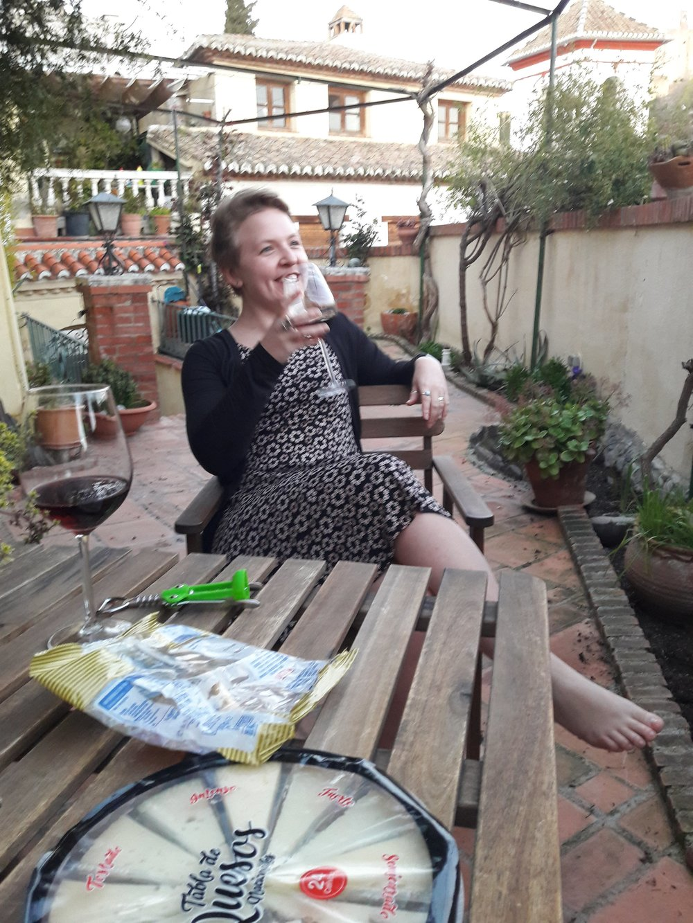 Even though I want my visitors to drink all the wine and eat all the cheese while they're here in Spain, it gives an unrealistic impression of my 'normal life.'
