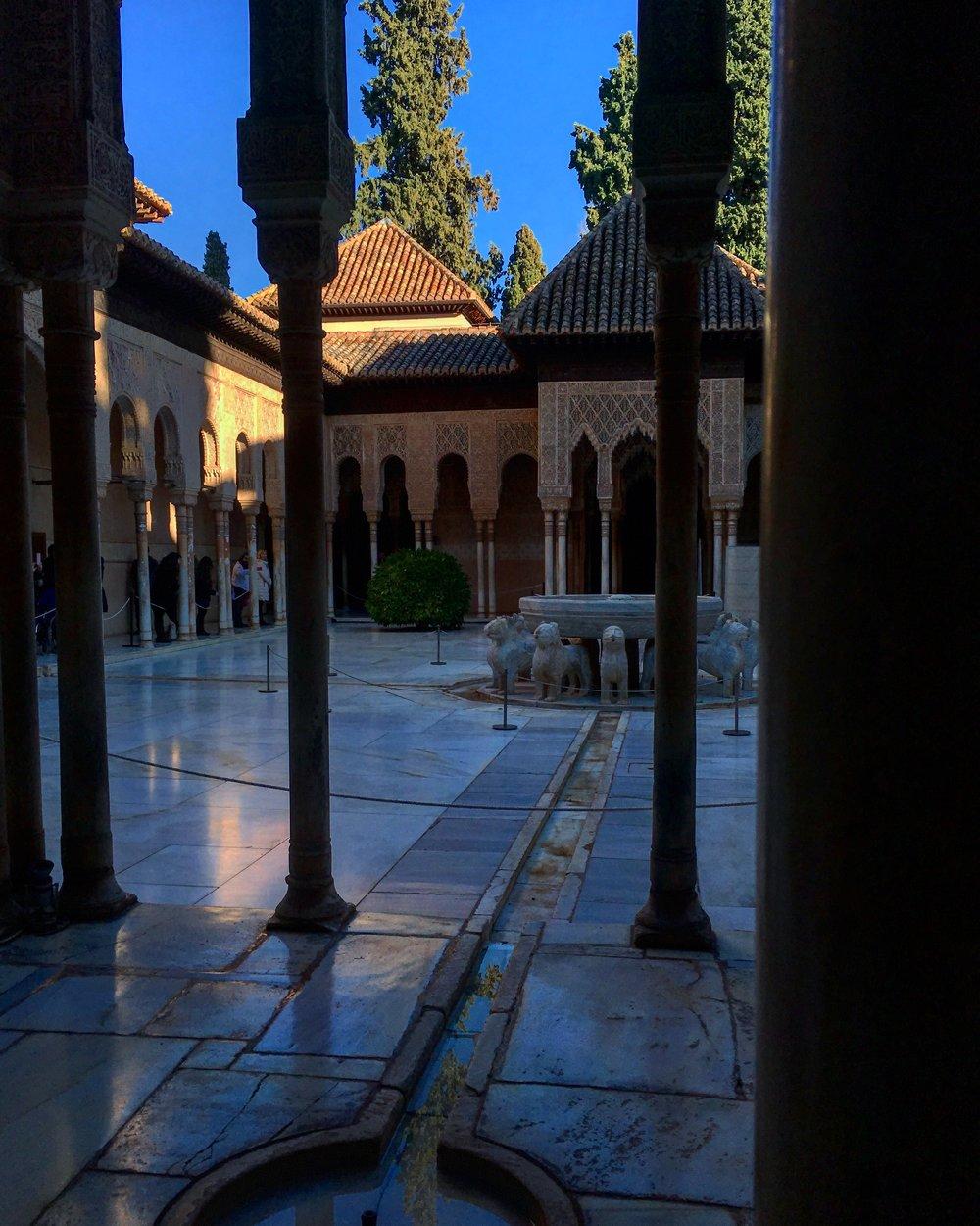 Patio of the Lions. La Alhambra, Granada