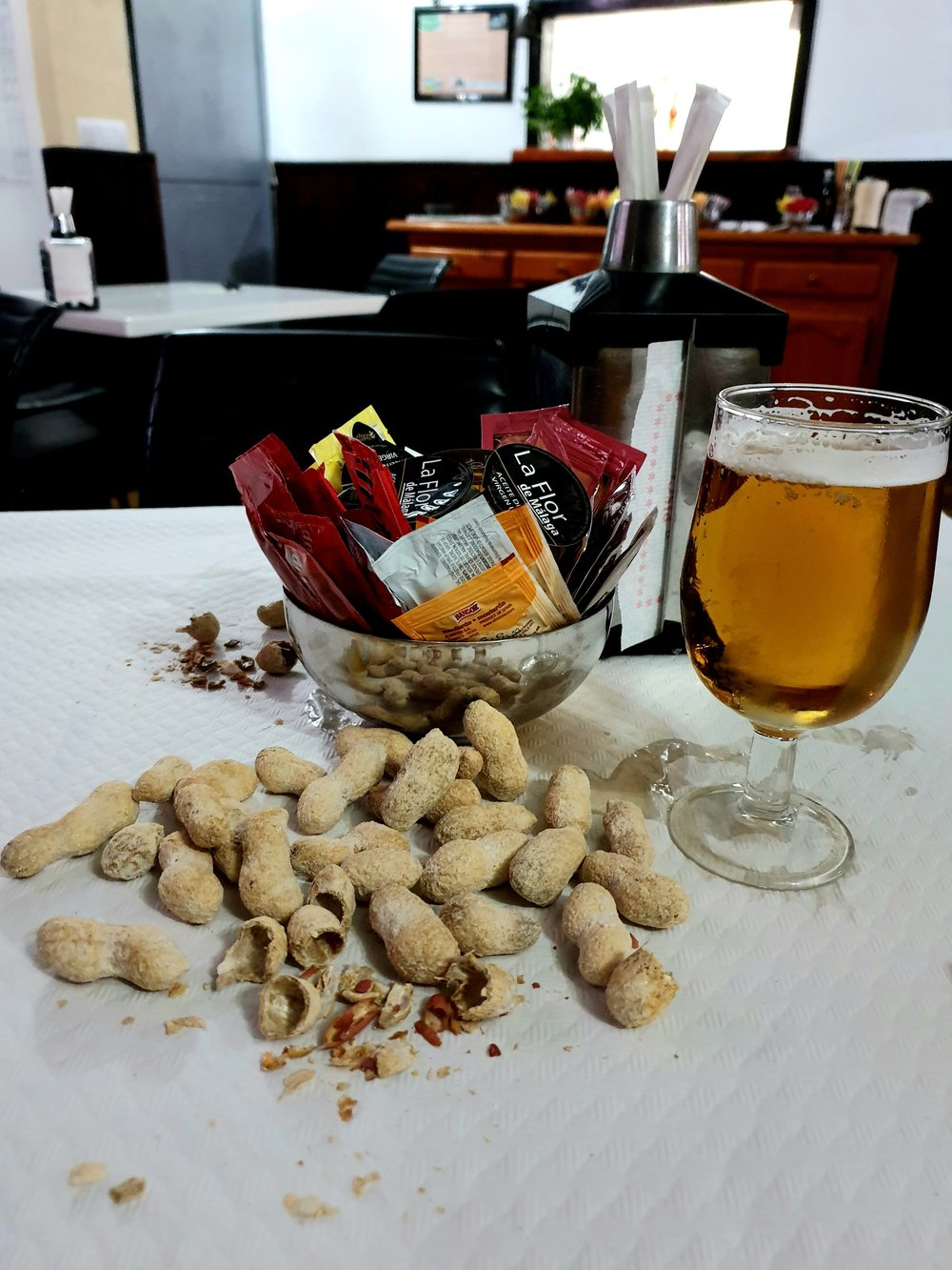 Drinking beer with food (usually more substantial food than peanuts) can alter your expectations.
