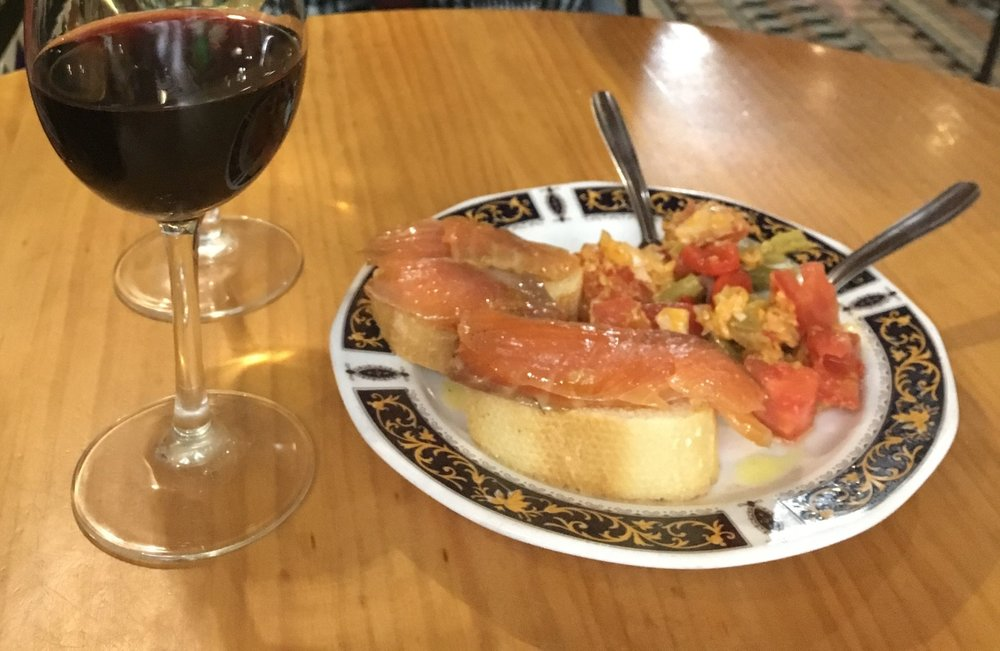 Tapas at a local classic in Granada, La Bodega de Antonio.