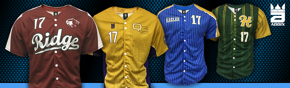 Custom Full Button Baseball Jersey