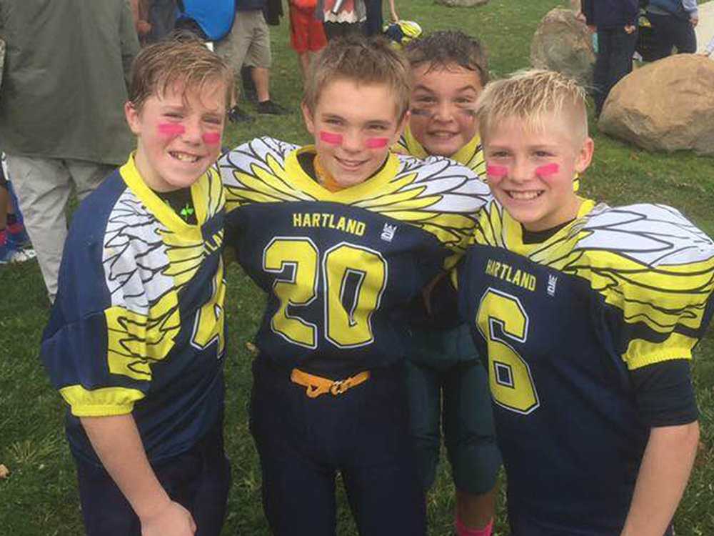 Hartland Youth Custom Football Jerseys