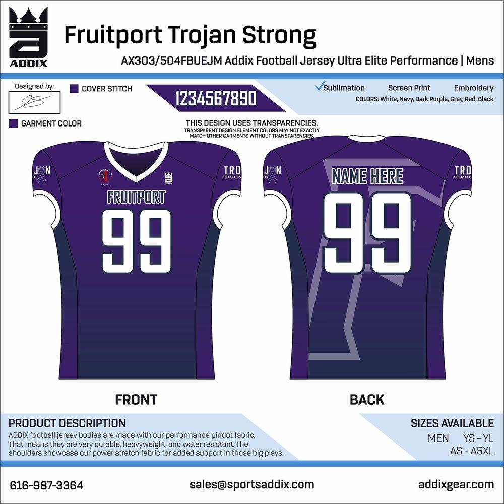 """Fruitport's """"Trojan Strong"""" Jerseys"""