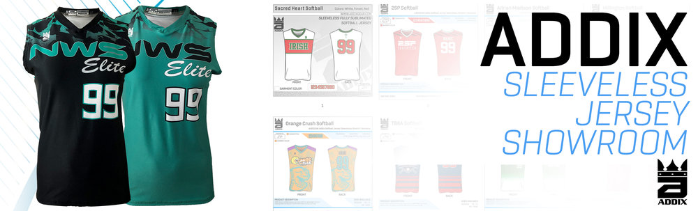 Custom Sleeveless Stretch Softball Jerseys Showroom