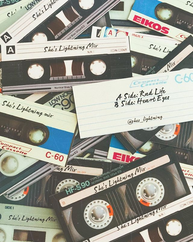 A cute little cassette for you in every package. 🎶 #sheslightning