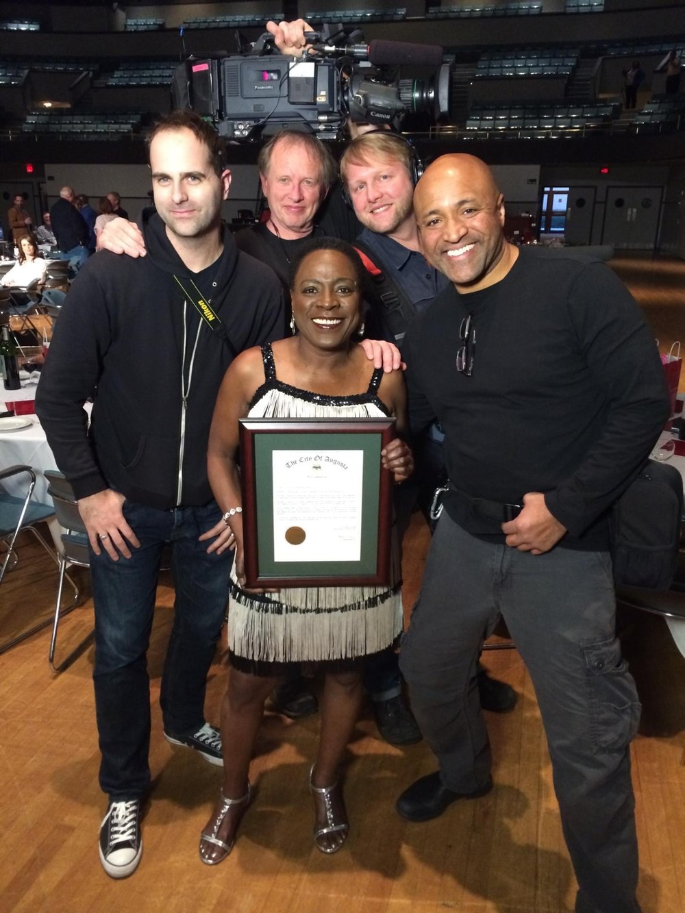 Miss Sharon Jones! And Cabin Creek Film Crew