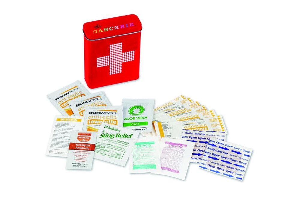 Retro Red Tin First Aid Kit