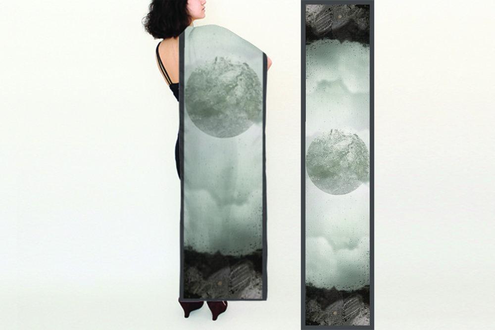 Copy of Rain, Long Silk Scarf