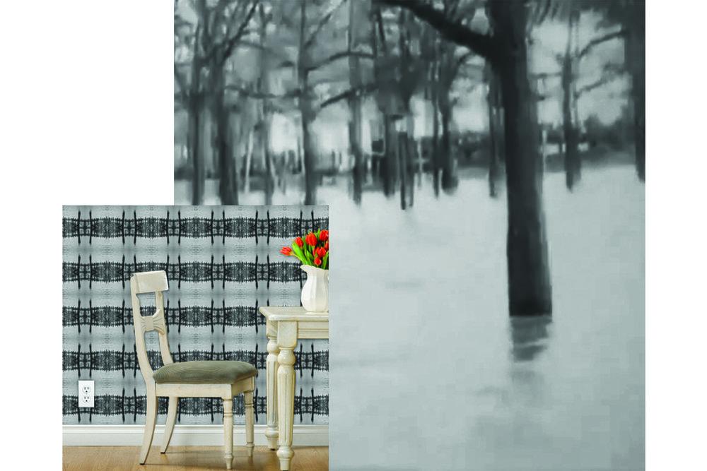 Flooded Park, Wallpaper Roll