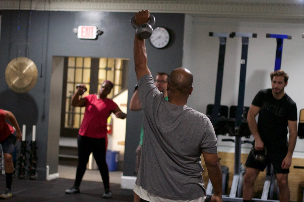 ULiftU member and CrossFit Level One Trainer, Arthur leading a warm up!