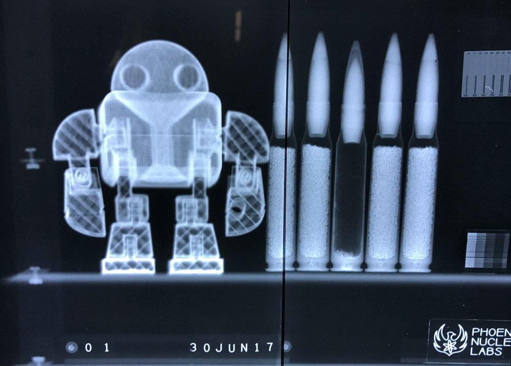 Neutron Radiography - PLA Robot