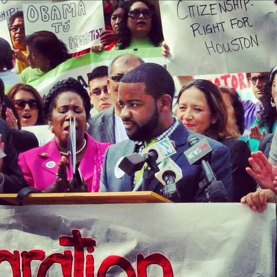 A slimmer me speaking at a pro-immigration rally on the steps of city hall back in 2013. While I was on staff with TOP, I did this for free because I believed (and still do) in comprehensive immigration reform with a pathway to citizenship.