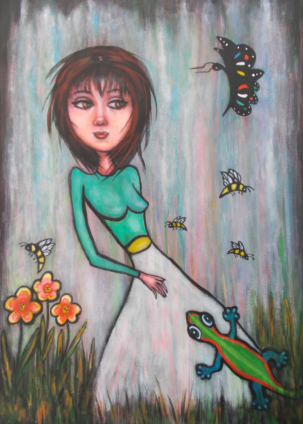 Secret Garden / 18 x 24 . Acrylic $600