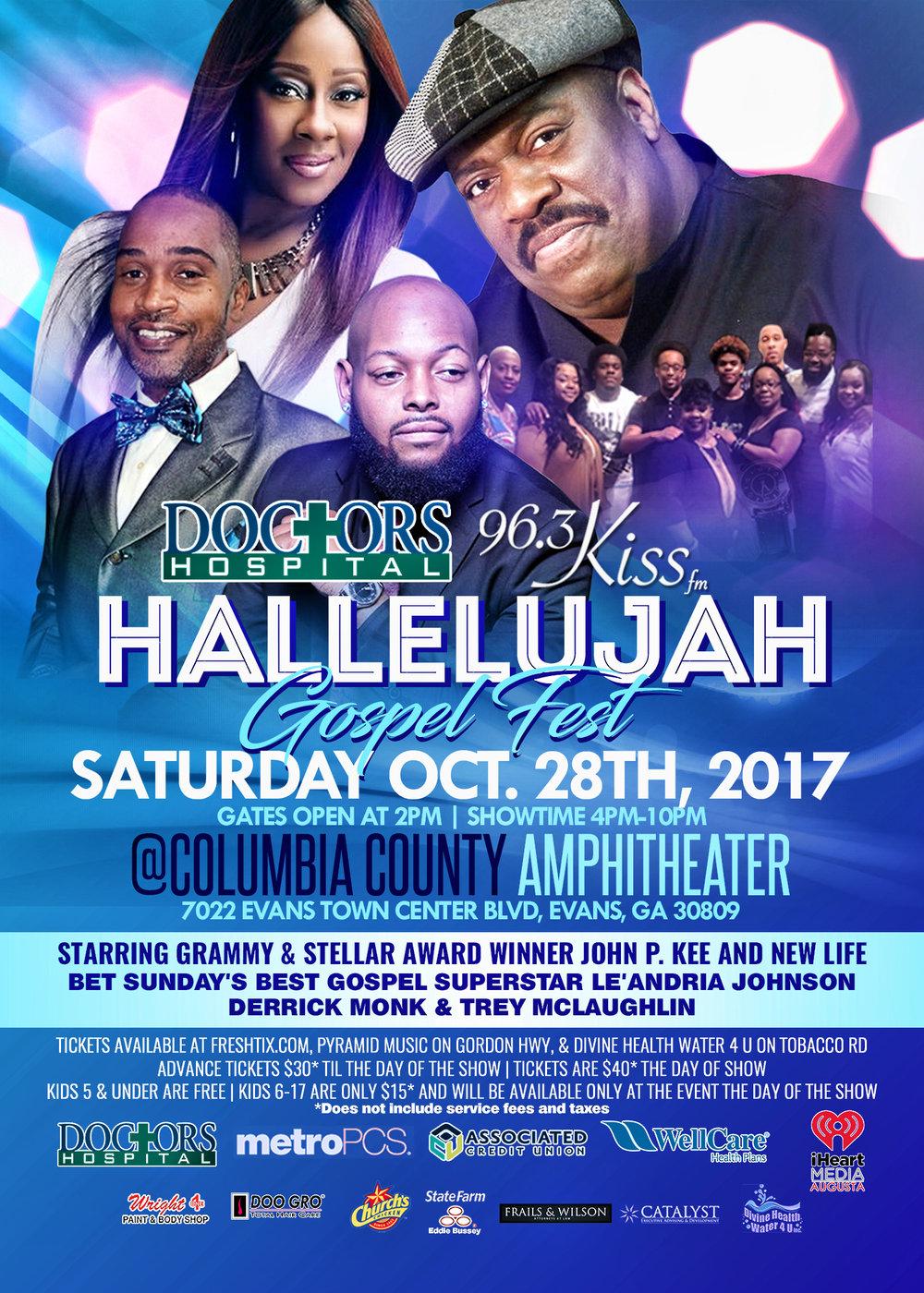 hallelujah gospel fest flyer