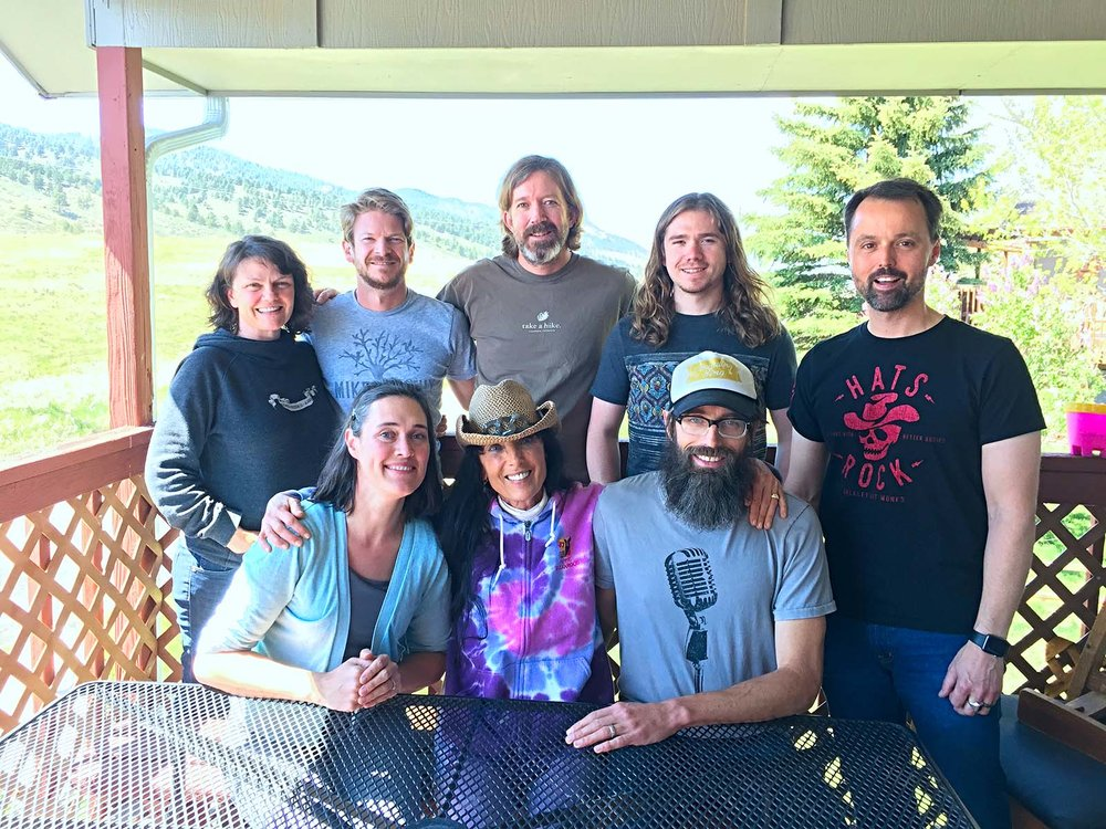 Some of the talented people that made my album possible.  Upper row standing: KC Groves [producer], Charlie Rose [banjo, pedal steel], Tyler Grant [guitar], Jake Simpson [fiddle], Damon Smith [percussion].  Front row seated: Erin Youngberg [upright bass], Barbara Jo Kammer, Aaron Youngberg [engineer & co-producer].  Not pictured: Sally Van Meter [dobro], Greg Blake [acoustic guitar, vocals], Mollie O'Brien [vocals], Andy Dunigan [dobro].
