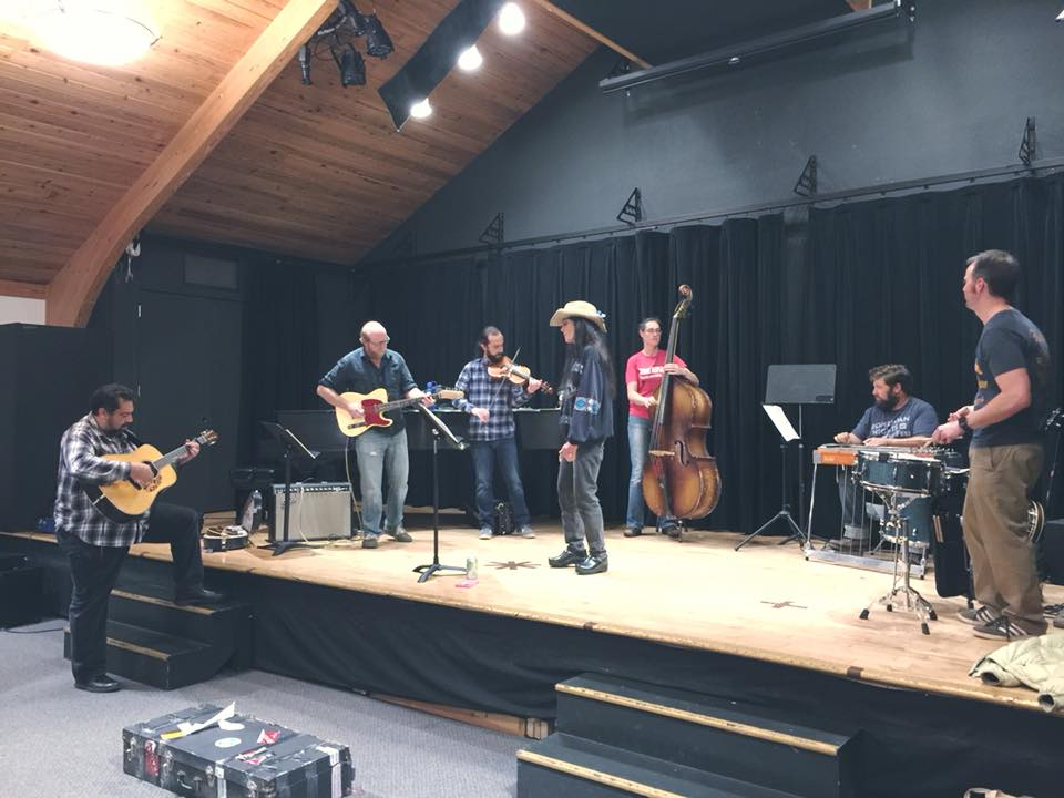 Above: Rehearsal before the CD Release Party!