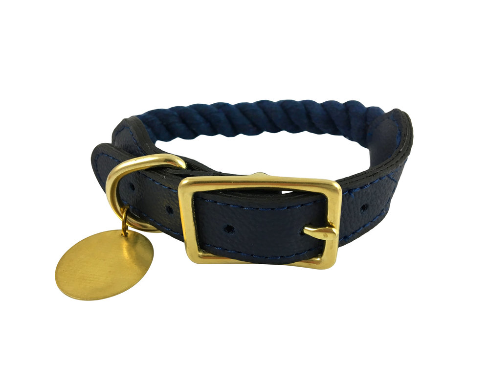 Pet Collar,Sargasso Sea Blue - Available in 4 Sizes