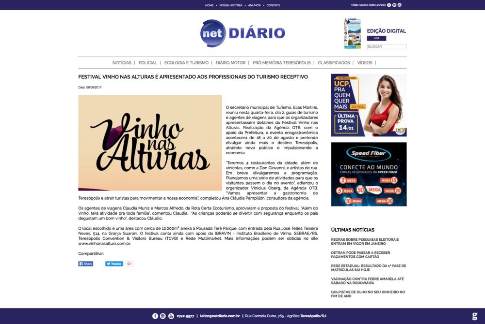08/08/17 - Net Diário