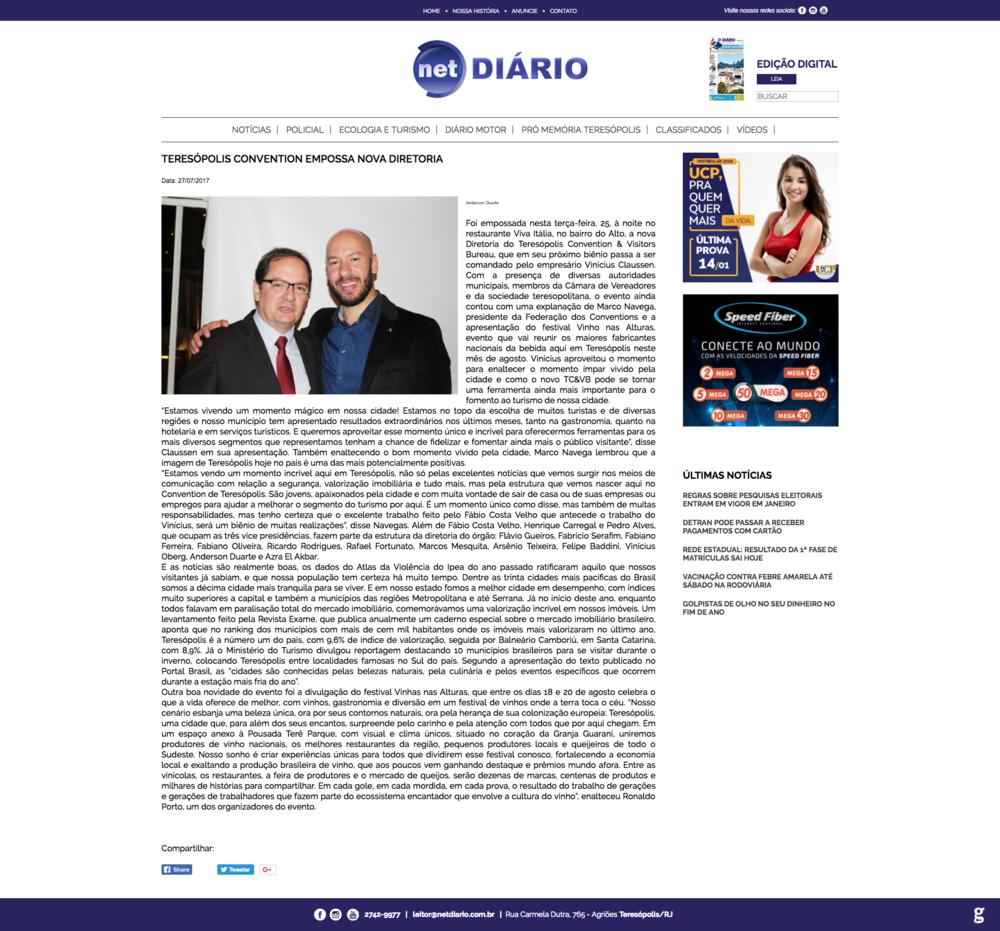 27/07/17 - Net Diário