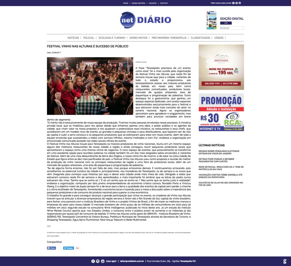 23/08/17 - Net Diário