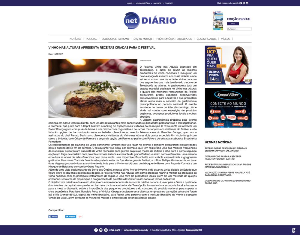18/08/17 - Net Diário