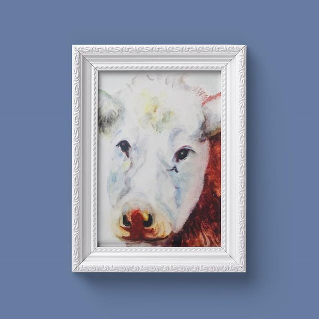 Face of a Cow by Eithne Byrne