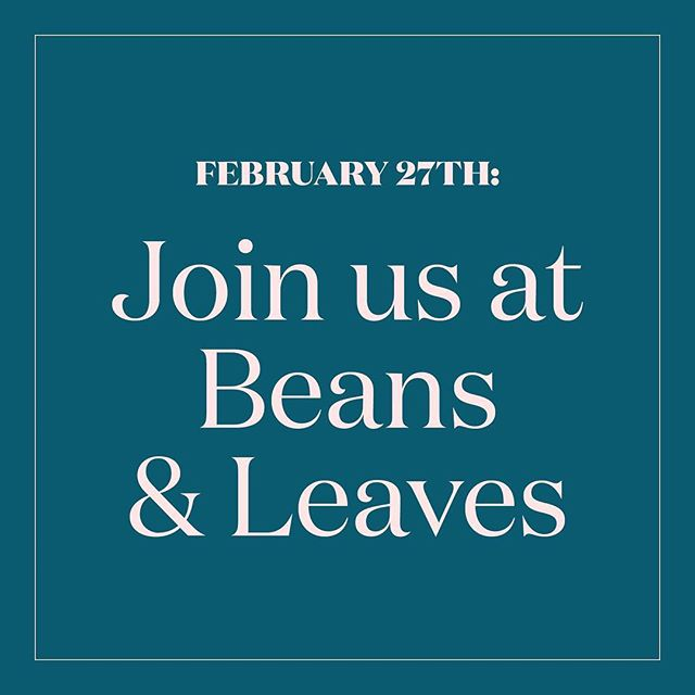 We're excited to come back to @beansandleavescafe for another paint event. We will release the artwork for the event later this week! You can purchase a ticket from our website. Link in bio.