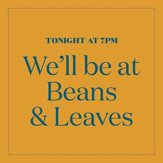There are a couple of hours left to grab your ticket for tonight's paint event at Beans & Leaves. The class starts at 7pm!