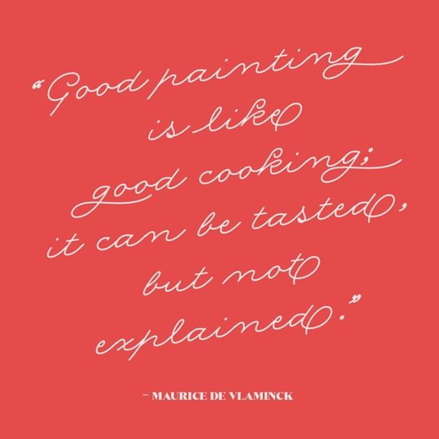 It's Friday! Why don't you paint something this weekend? Or cook something you've always to try? Or do both!