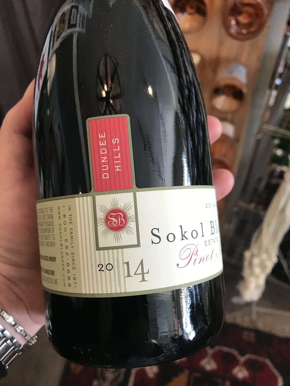 2014 Sokol Blosser, Dundee Hills: The Dundee Hills Estate Pinot Noir captures and expresses the delicate fruit characteristics associated with this varietal, and it is balanced with structure and age-ability. In order to achieve this balance Sokol Blosser combines a couple of key distinctive winemaking techniques. They increase structure and complexity in the mouth feel through a lengthy post-fermentation maceration making up about 70% of this blend. To retain the pureness of the Pinot Noir fruit characters expressed early in fermentation, the other 30% has limited skin contact by removing the wine from the skins immediately following fermentation. The entire Estate is represented in this cuvee with a percentage of each block coming together in a single blend. 92 WE/91JS/90WS  36.99