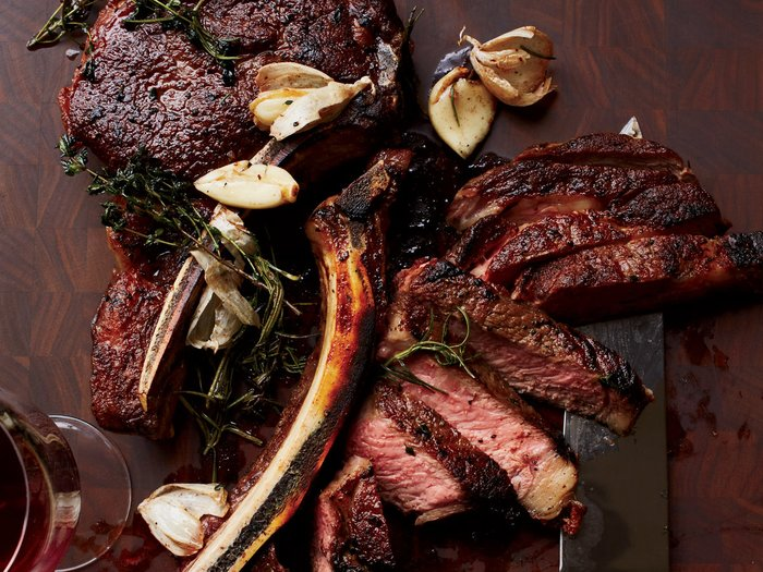 2014 Mount Peak Gravity Red Blend, Sonoma ($44.99) with Butter Basted Ribeyes